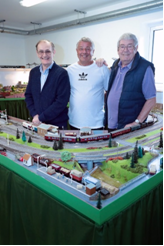 Shenley Wood Village enthusiasts show off their model railway.