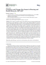 Constancy and Change: Key Issues in Housing and Health Research cover
