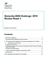 Cover Dementia 2020 challenge: progress review