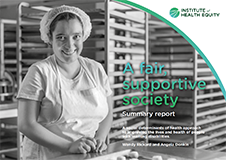 Cover A Fair Supportive Society Summary Report
