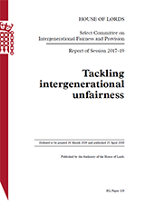 Cover Intergenerational Unfairness