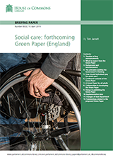 Cover Social care: forthcoming Green Paper (England)