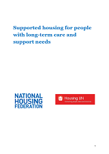 Cover HLIN NHF Supported Housing Needs