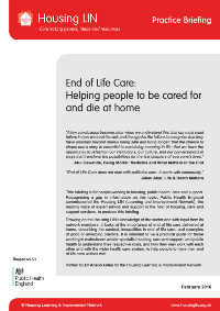 Cover HLIN PHE Practice Briefing End of Life Care