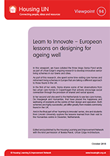 Learn to Innovate – European lessons on designing for ageing well