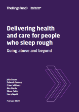 Delivering health and care for people who sleep rough cover