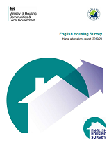English Housing Survey Home adaptations report, 2019-20 cover