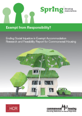 Exempt from Responsibility- Ending Social Injustice in Exempt Accommodation Research and Feasibility cover