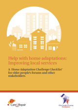 Help with home adaptations: Improving local services cover