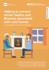 Helping to prevent winter deaths and illnesses associated with cold homes cover