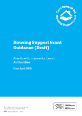Welsh Government Draft Housing Support Grant Practice Guidance Cover