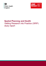 Spatial Planning and Health Getting Research into Practice Cover