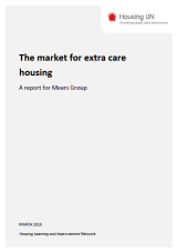 The market for extra care housing cover