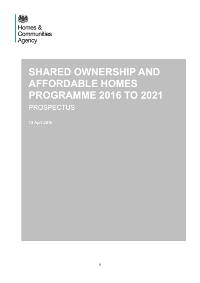 HCA SO and AHP 2016 - 2021 - Funding specialised housing